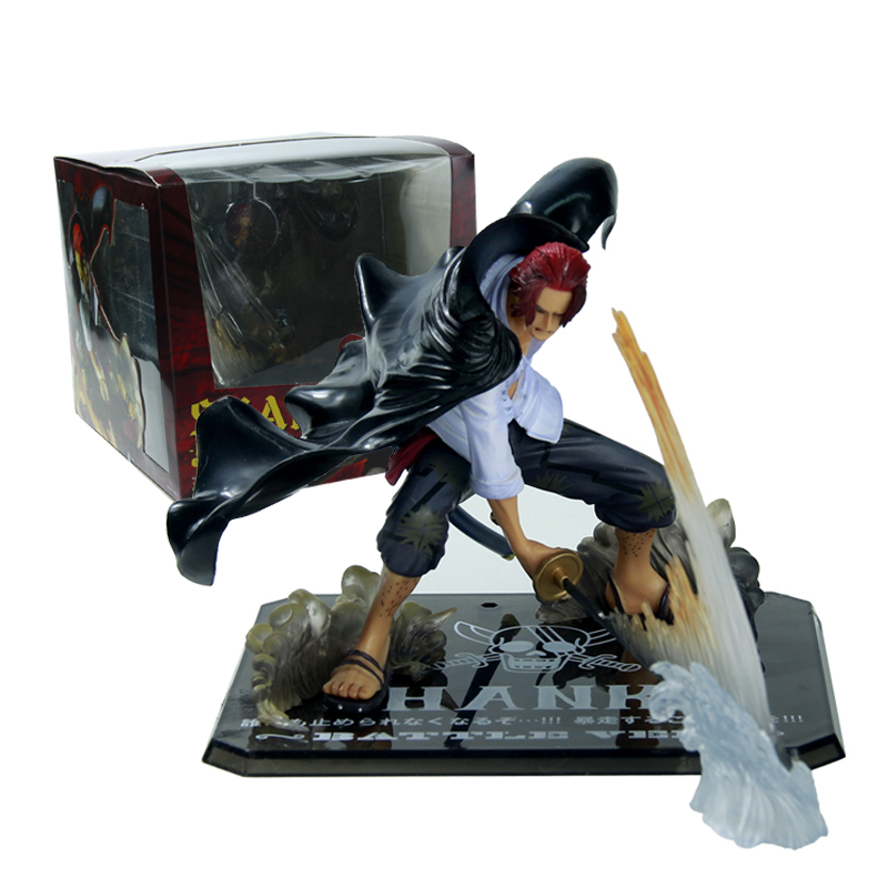 One Piece Shanks Action Figure Anime Cartoon Collectible Model Toy 13CM<br><br>Aliexpress