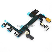 Good Working Power Button Switch On/Off Flex Cable For iphone 5S Replacement Part Free shipping