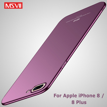 Buy Apple iPhone 8 case MSVII Silm coque iphone 8 plus cover iPhone 7 7 plus case PC scrub cover iphone8 8plus cases for $4.48 in AliExpress store