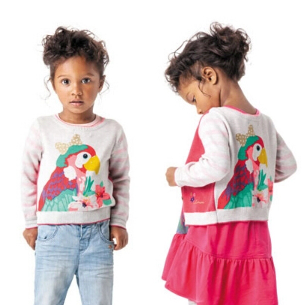 2016 New winter autumn infant baby girl cartoon sweater child sweaters baby sweater children outerwear sweaters 8<br>