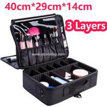 High Quality Professional Empty Makeup Organizer Bolso Mujer Cosmetic Case Travel Large Capacity Storage Bag Suitcase Train Case