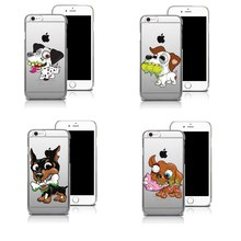 Trendy cat toon dog Case for iphone 6 6S 5s SE 7 7plus 6plus 6Splus Soft Silicone TPU Phone Back Cover Capinha Coque