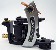 Fashion Shape New Tattoo Machine Handmade Taty Coil Gun Golden Black Color Supplies(China)