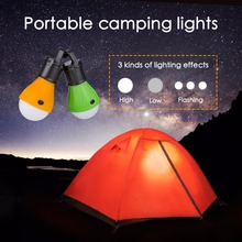 Night Lights Portable Outdoor Hanging LED Lantern Light LED Camp Lights Bulb Lamp For Camping Tent Powered By 3*AAA Batteries