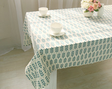 Cotton Table Cloth Fresh Leaf Flower Fashion Home Hotel drape Outlets American Country Style Table cover Tablecloth For(China)