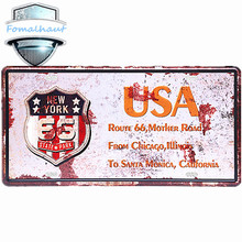 "Vintage Car Plate "" Route 66, Mother Road "" Wall Art Craft Vintage  Metal Signs for Bar Decor Beer Wall Metal Beer Sign 30*15CM"