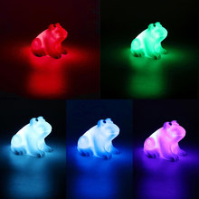 ITimo Color Changing LED Frog Night Light Bedroom Decoration Colorful Home Lighting Atmosphere Lamp Cute Nightlights