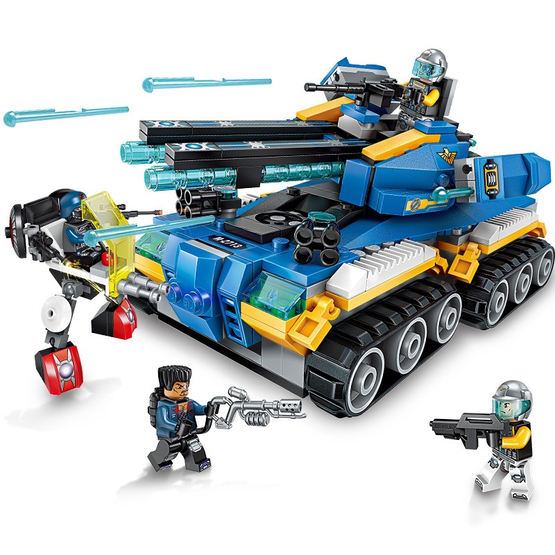 Enlighten-Building-Block-High-Tech-Era-Apocalypse-Tank-4-Figures-398pcs-Educational-Technic-Bricks-Toy-For (2)