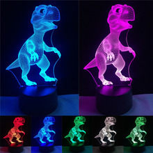 New Unique Dragon Led Dinosaur Atmosphere Visual Colorful Night Light Color Gradient Sleeping Holiday Lighting Friend Boys Gifts(China)