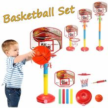 Children Boys Stand Set Backboard Hoop Outdoor Indoor Sports Adjustable Basketball Toy Backboard Net Set Funny Toy Sets