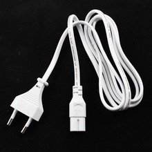 50pcs/lot white 1.5m 5FT EU Plug AC Figure 8 Power Cord Cable EU 2-Prong Laptop AC Adapter Lead 2 Pin High Quality Top Sale