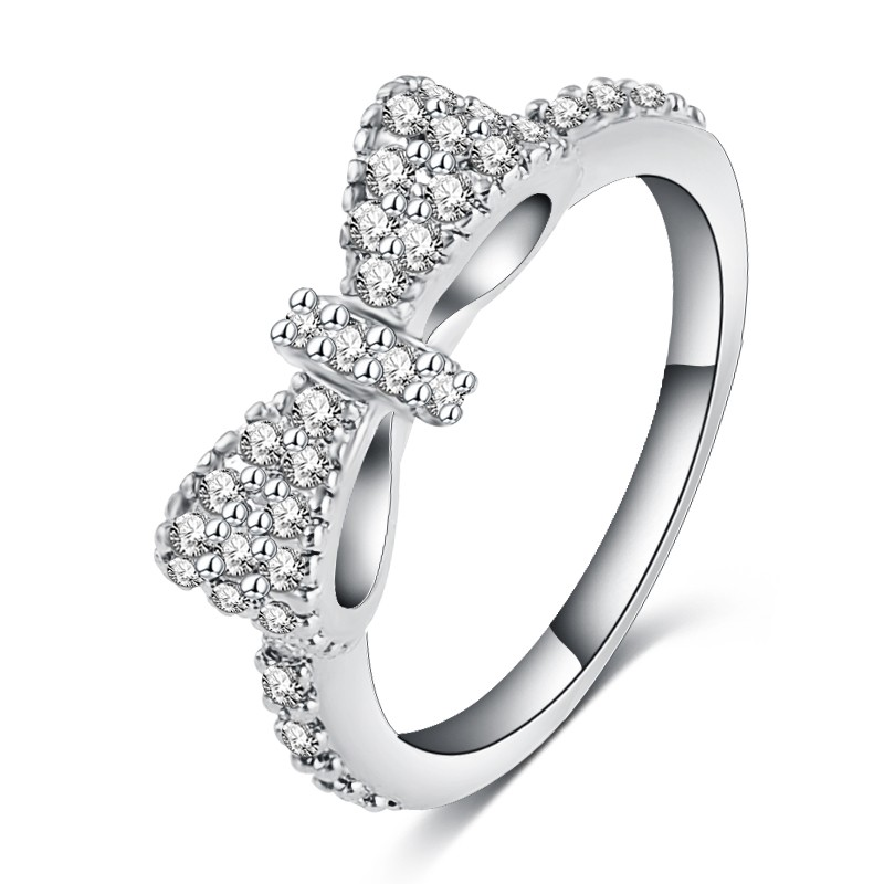 Rhinestone Crystal Bowknot Ring