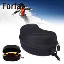 Glasses Box Carry Storage Zipper Case For Spherical Ski Snowboard Skiing Goggles Outdoor Tool(China)