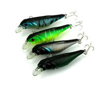 Big Sale 4pcs Minnow Fishing Lure Long Casting Swimbait Hard Plastic Artificial Tackle Diving Crankbait 3D Fish Eyes 9.5cm 12.8g