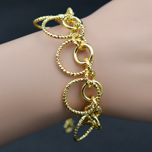 Sunny Jewelry Romantic Jewelry Charm Bracelets For Women Link Chains Round Circles Bracelets Chains For Party Wedding Birthday(China)