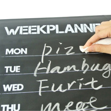 High Quality Weekly Planning Planner Calendar Essential Memo Chalk board Blackboard Wall Sticker Complement Home Decor