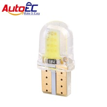 AutoEC 6x Auto LED T10 194 COB Silicone Shell 20 Chips Cold White Color W5W 12V Car Side wedge/License Plate Lamp Bulb #LB154