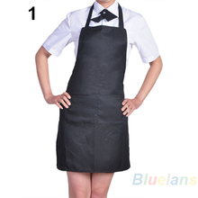 HOT 8pcs/lot Fashion Plain Apron with Front Pocket for Chefs Butchers Kitchen Cooking  921G