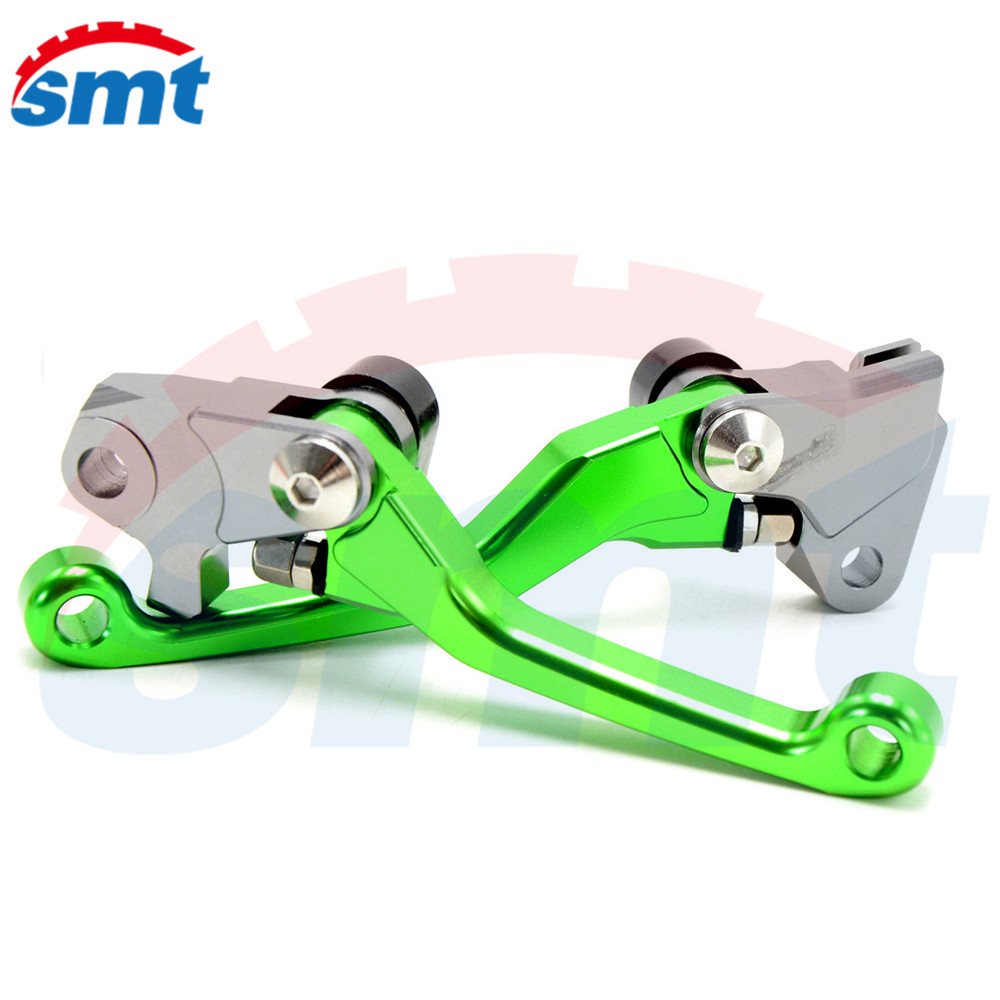 Hot Selling Motocross Off Road CNC Pivot Brake Clutch Levers Green Color For KTM 450 SMR 2007 2008 2009 have 7 colors optional<br>