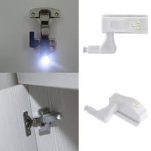 1PC New Hot Sale Fashion Universal Cabinet Cupboard Hinge Nature White LED Bulb Night Light Wardrobe System Modern Lamp Home(China)
