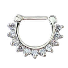 1pcs Charming Clear Round Zircon Jewelry Septum Ring Hinged Septum Jewelry Septum Piercing For Women(China)
