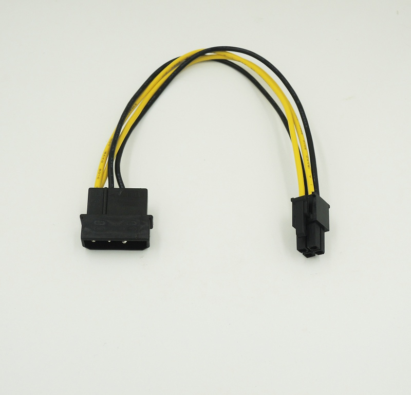 Lot of 3 P4 Molex IDE to SATA Power Adapter Cable