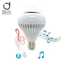 Dengyao Special offer 12W E27 Wireless Bluetooth LED Music Bulb Audio Speaker RGBW Music Playing Light Lamp(China)