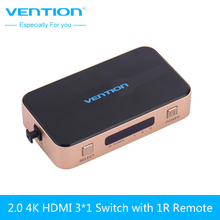 VENTION 3 input 1 output HDMI Switch Switcher HDMI Splitter HDMI Cable with Audio for XBOX PS3 Smart HD 1080P HDMI(China)