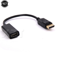 1pcs DP Displayport Male to HDMI Female Cable Converter Adapter For HP/DELL Laptop PC M/F NEW