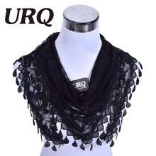 Luxury Brand design Summer Lady Lace Scarf Flexible Women Triangle Bandage Floral scarves Shawl Marriage gift scarf L5A15822(China)