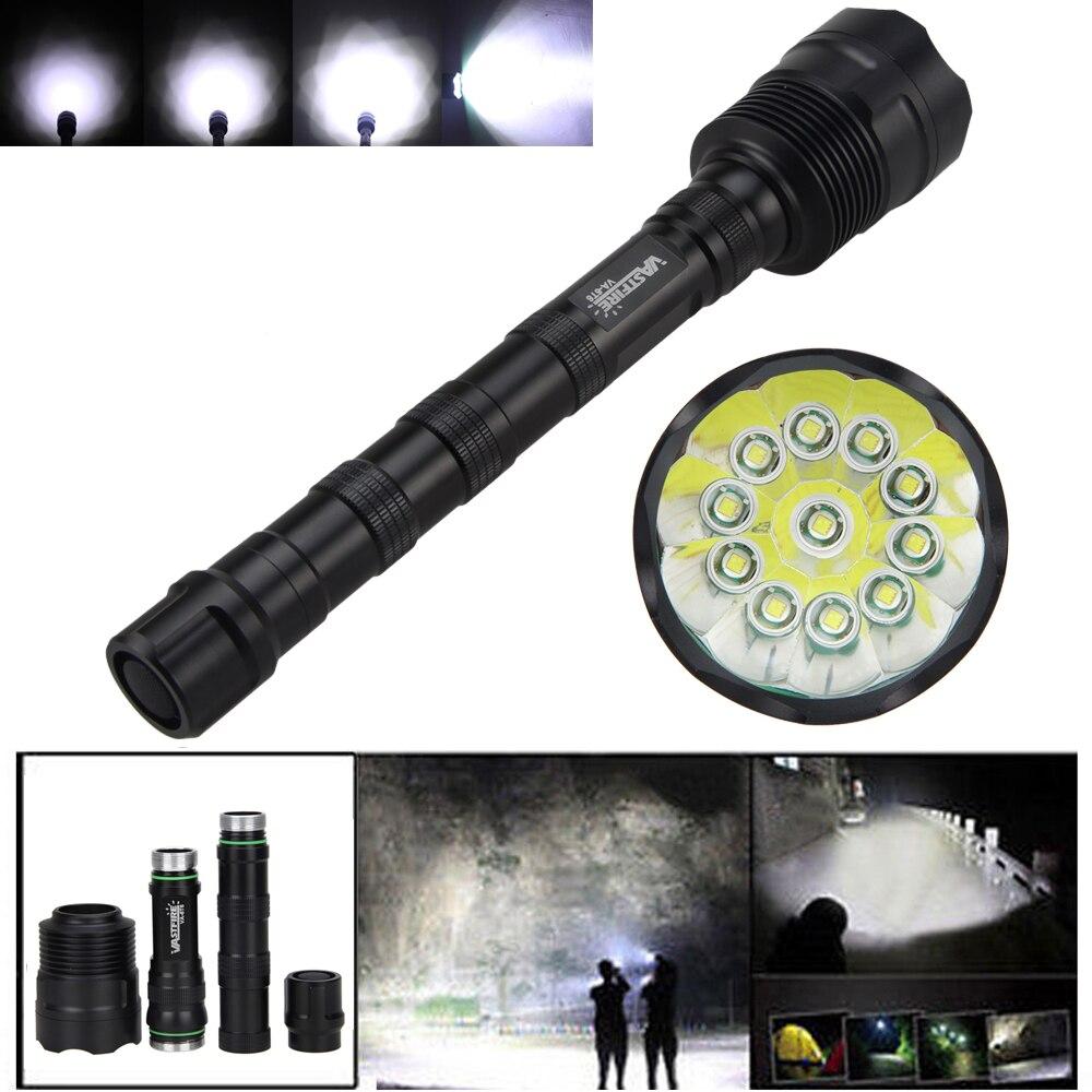 VASTFIRE 28000 Lumens 11x XM-L T6 5 Mode 18650 Super Bright LED Hunting Flashlight<br>
