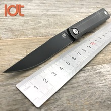 LDT Zebra MS2 Ball Bearing Folding Knife 9Cr8Mov Blade Steel Handle Hunting Camping Knive Outdoor Survival Knife EDC Tools(China)