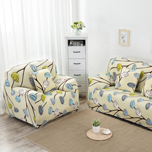 1/2/3/4-seater Cloth Art Elastic Sofa Cover Case Printed Slipcover Flexible Stretch Big Elasticity Couch Cover Funiture Cover