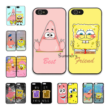 back shell cellphone case cover for iphone 4 4s 5 5s 5c SE 6 6s 7 plus ipod touch 4 5 6  Pair Best Friend SpongeBob Partrick