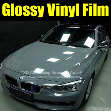 10/20/30/40/50/60*152CM Cement Grey Vinyl Sticker High Glossy Vinyl Film Gloss vinyl Wrap Sticker Light blue vinyl