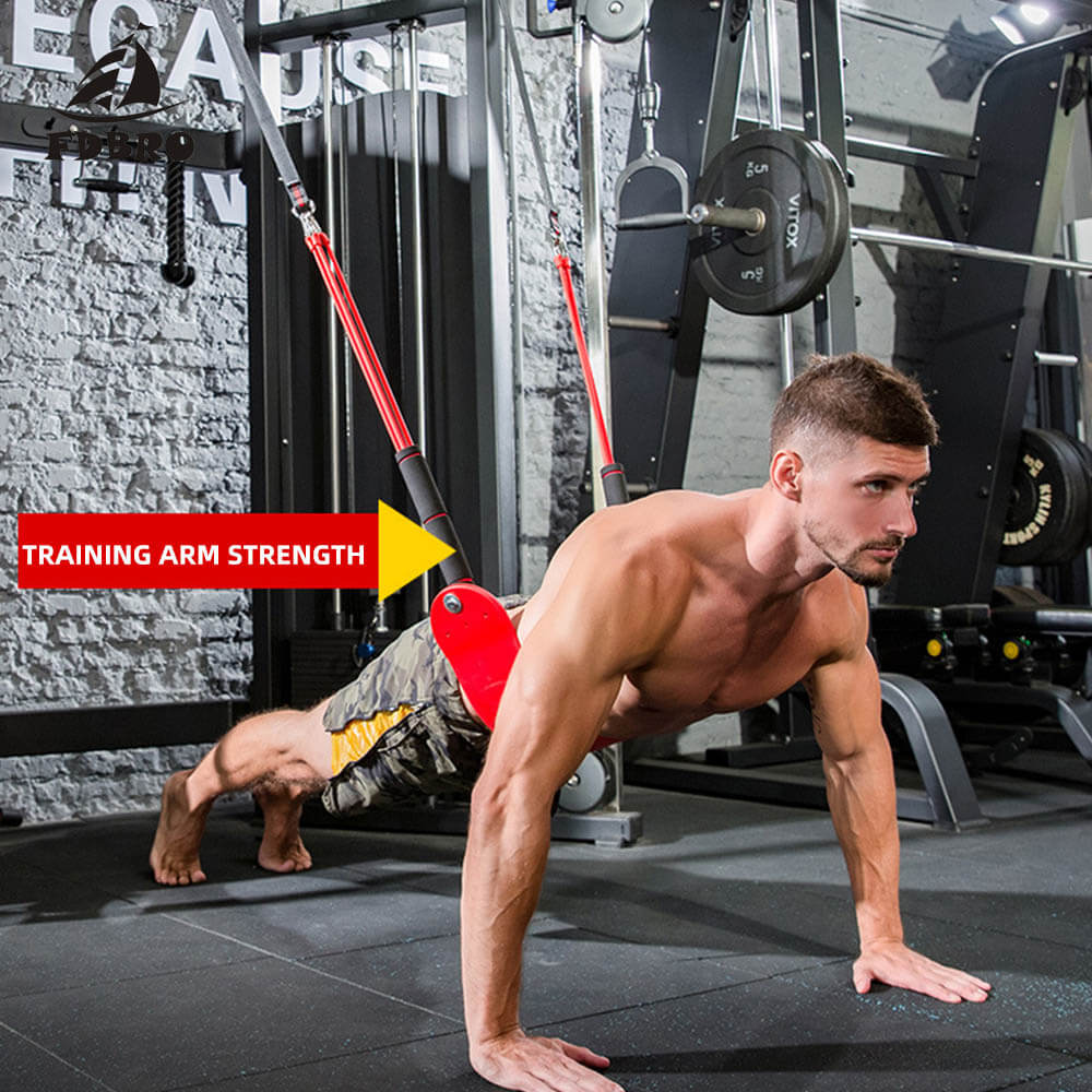 Resistance Band Pull-Up Bar Slings Straps Strength Training Home Gym Fit FatLoss