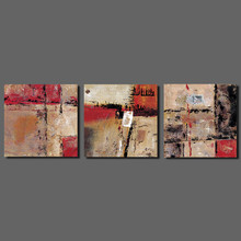 Abstract art red brown Picture decoration Canvas Painting wall Art Graffiti children kids for living room printed decor unframed
