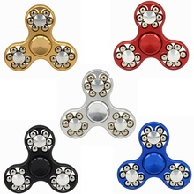 Fidget Spinner Hand Spinner High Speed R188 Bearing Titanium Alloy Toys Anxiety Stress Adults Kid Metal Finger Spinners(China)