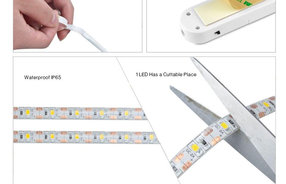 RGB LED motion sensor tape light (5)