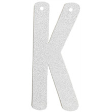 (1pc Only) 6inch Streamers for Birthday Personalized Silver Glitter Paper Letter Banner Hanging Holiday Baby Shower Decorations
