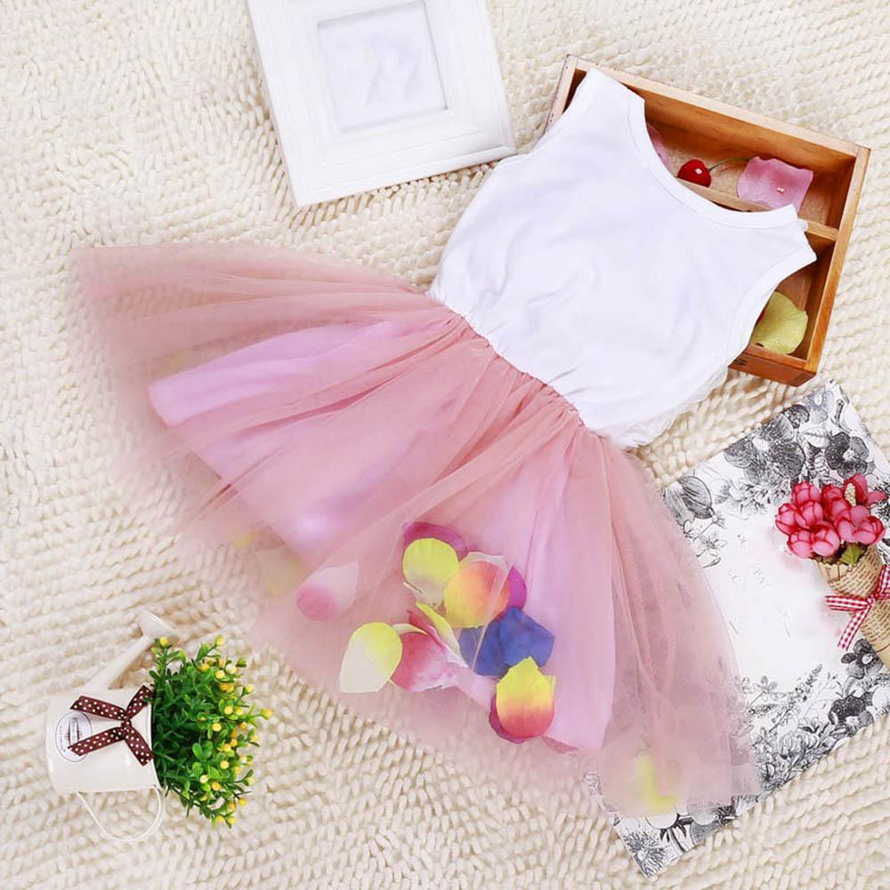 2016 Summer Cotton Baby Infant Fairy Tale Petals Colorful Dress Chiffon Princess Newborn Baby Dresses Gift<br><br>Aliexpress
