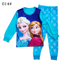 100% cotton girl Elsa anna pyjamas enfant fille hello kitty clothing set pijama kid infantil sleepwear children clothes for girl