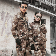 Military Uniform Desert Camouflage Army Suit Winter Uniforme Militar Tactical Jacket Cargo Pant Combat CS Working Clothing Men(China)