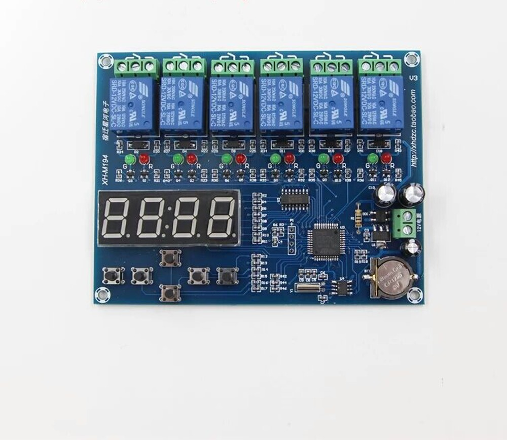 XH-M194 Time relay control module/Multiple timing module/5 channels relay time control panel  lzx<br><br>Aliexpress