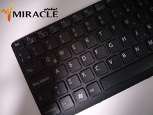 Notebook keyboard For Sony Vaio SVE141 SVE 14 SVE14111ELW series SP/LA Latin layout with backlit&frame wholesale price