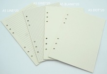 Notebook A6 A5 Refill 80 sheets Inner paper pages Normal Paper Line Grid Blank Dot included(China)