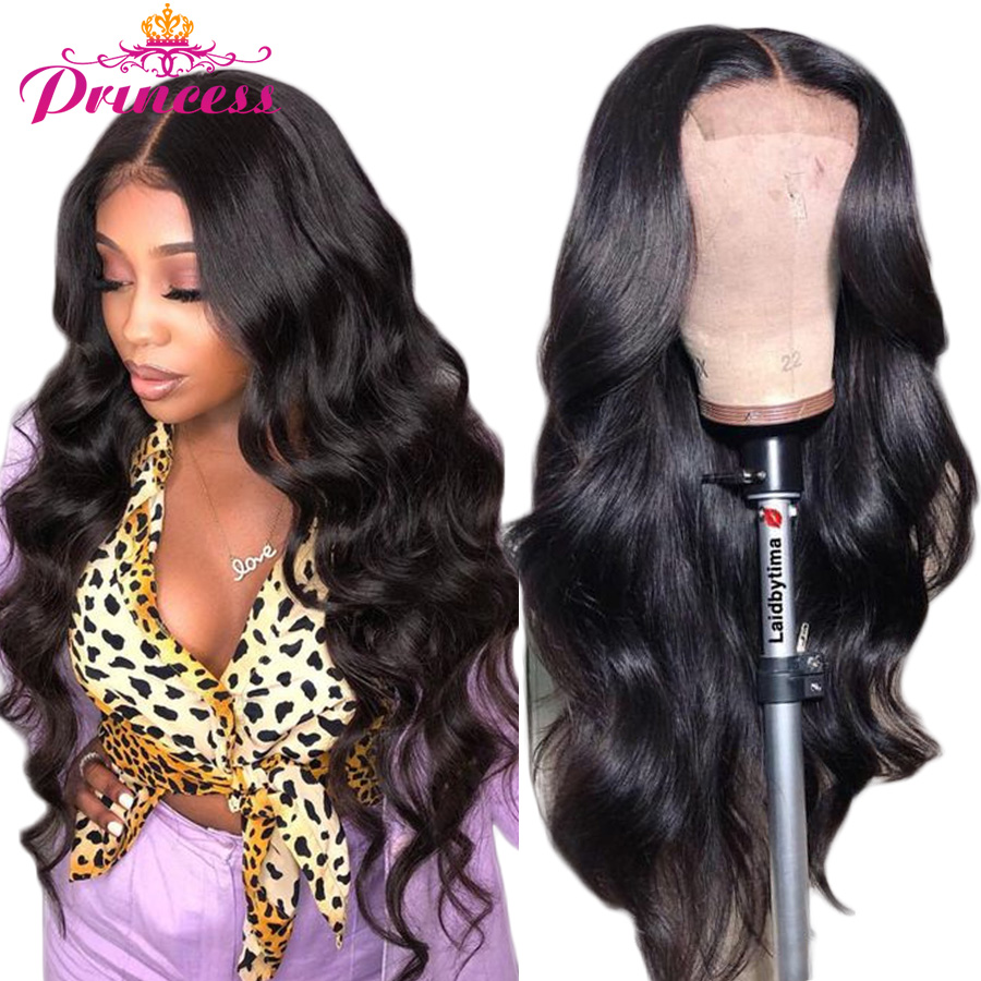 Lace Front Human Hair Wigs Pre Plucked Hairline Brazilian Body Wave Lace Frontal wig With Baby Hair For Women Remy Pirncess Hair(China)