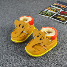 2016 Winter Super Cute Cartoon Elephant Design Baby Shoes Fashion Warm Sneakers Infants Toddler First Walkers Boot 11.5-13.5cm