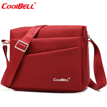 Cool Bell Brand Waterproof 10.6'' bag for 8.9 inch Tablet Men Women Shoulder Messenger Bag Small Leisure Crossbody Bag