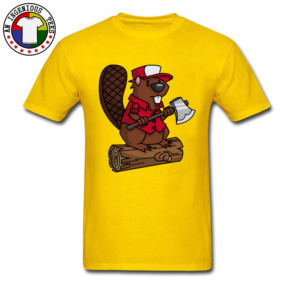 Beaver Chopper NEW YEAR DAY All Cotton Crewneck Tops T Shirt Short Sleeve Personalized Sweatshirts Brand New Hip hop Tshirts Beaver Chopper yellow